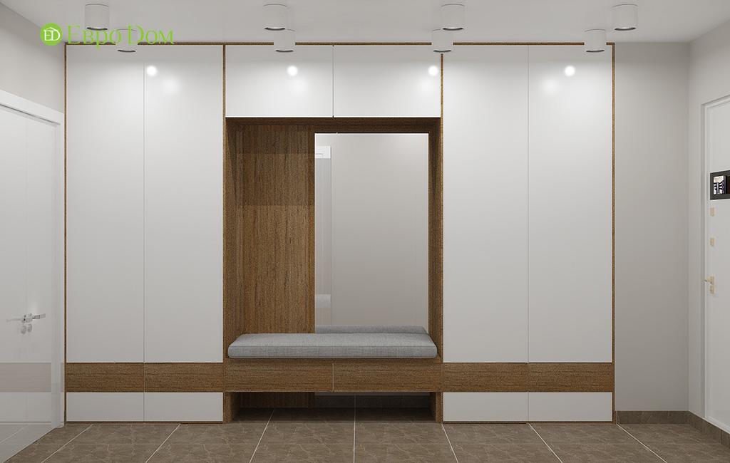 Дизайн 2-комнатной квартиры 52 кв. м в современном стиле. Фото 012