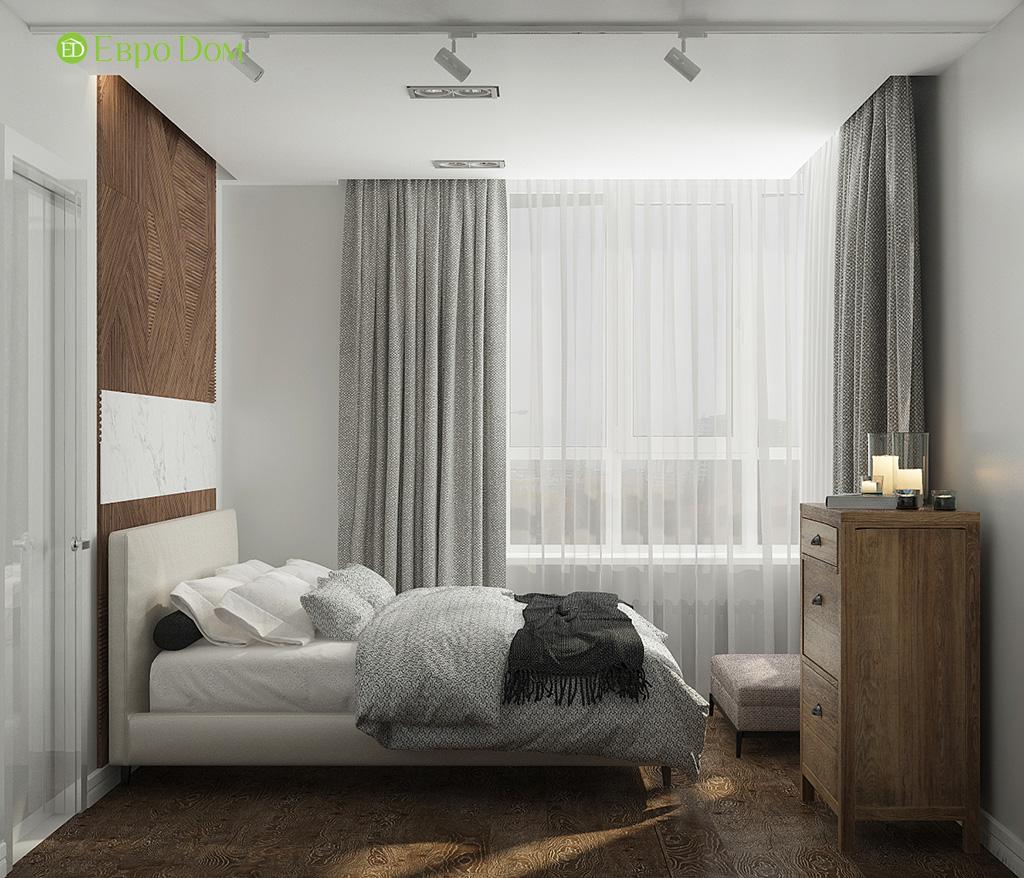Дизайн 2-комнатной квартиры 52 кв. м в современном стиле. Фото 013