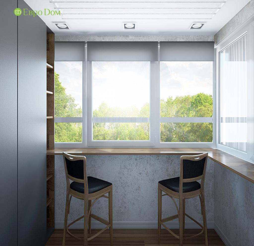 Дизайн 2-комнатной квартиры 93 метра в современном стиле. Фото 02