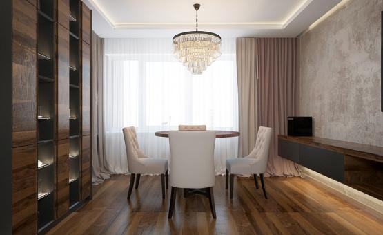 Дизайн интерьера квартиры в новостройке 93 кв.м. по адресу г. Москва, ул. Мельникова, д. 3, корп. 2. Фото 2