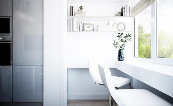 Дизайн интерьера квартиры в новостройке 63 кв.м. по адресу Москвовская область, ДО Суханово, корп. 3. Фото 1