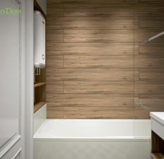 Дизайн двухкомнатной квартиры 63 кв. м в скандинавском стиле. Фото проекта