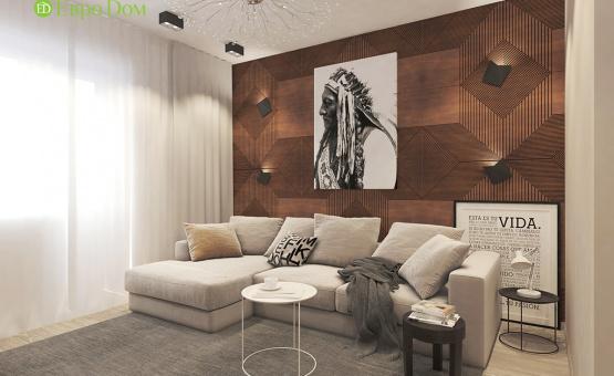 Дизайн интерьера 2-комнатной квартиры 57 кв.м. по адресу МО, Красногорский р-н, п. Отрадное д. 11, к. 1. Фото 2