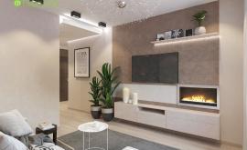 Дизайн интерьера 2-комнатной квартиры 57 кв.м. по адресу МО, Красногорский р-н, п. Отрадное д. 11, к. 1. Фото 3