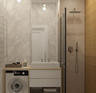Дизайн двухкомнатной квартиры 60 кв. м в стиле неоклассика. Фото проекта