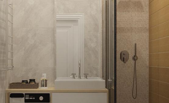 Дизайн интерьера 2-комнатной квартиры 60 кв.м. по адресу г. Москва, Астрадамский пр-д, д. 4а, к. 2, ЖК Северные ворота. Фото 2