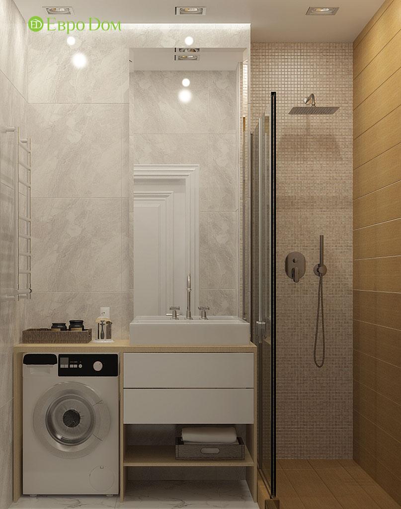 Дизайн 2-комнатной квартиры 60 кв. м в стиле неоклассика. Фото 03