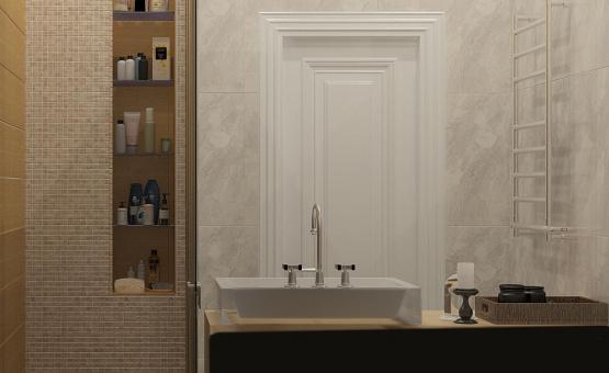 Дизайн интерьера 2-комнатной квартиры 60 кв.м. по адресу г. Москва, Астрадамский пр-д, д. 4а, к. 2, ЖК Северные ворота. Фото 3