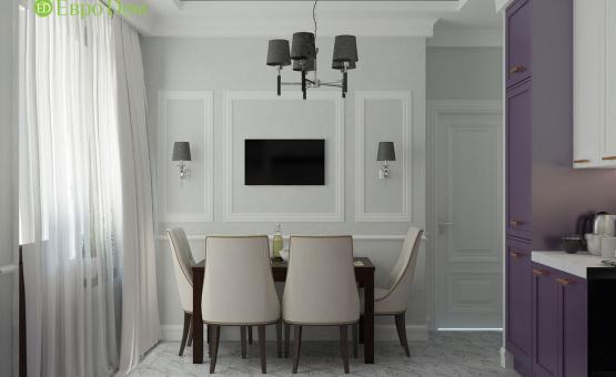 Дизайн интерьера 2-комнатной квартиры 60 кв.м. по адресу г. Москва, Астрадамский пр-д, д. 4а, к. 2, ЖК Северные ворота. Фото 4