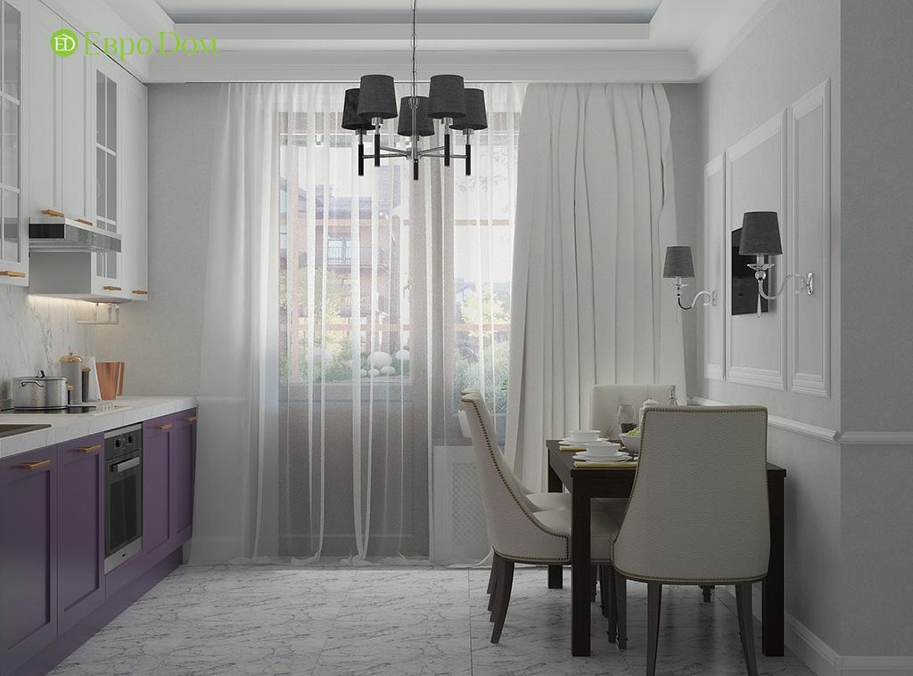 Дизайн 2-комнатной квартиры 60 кв. м в стиле неоклассика. Фото 06