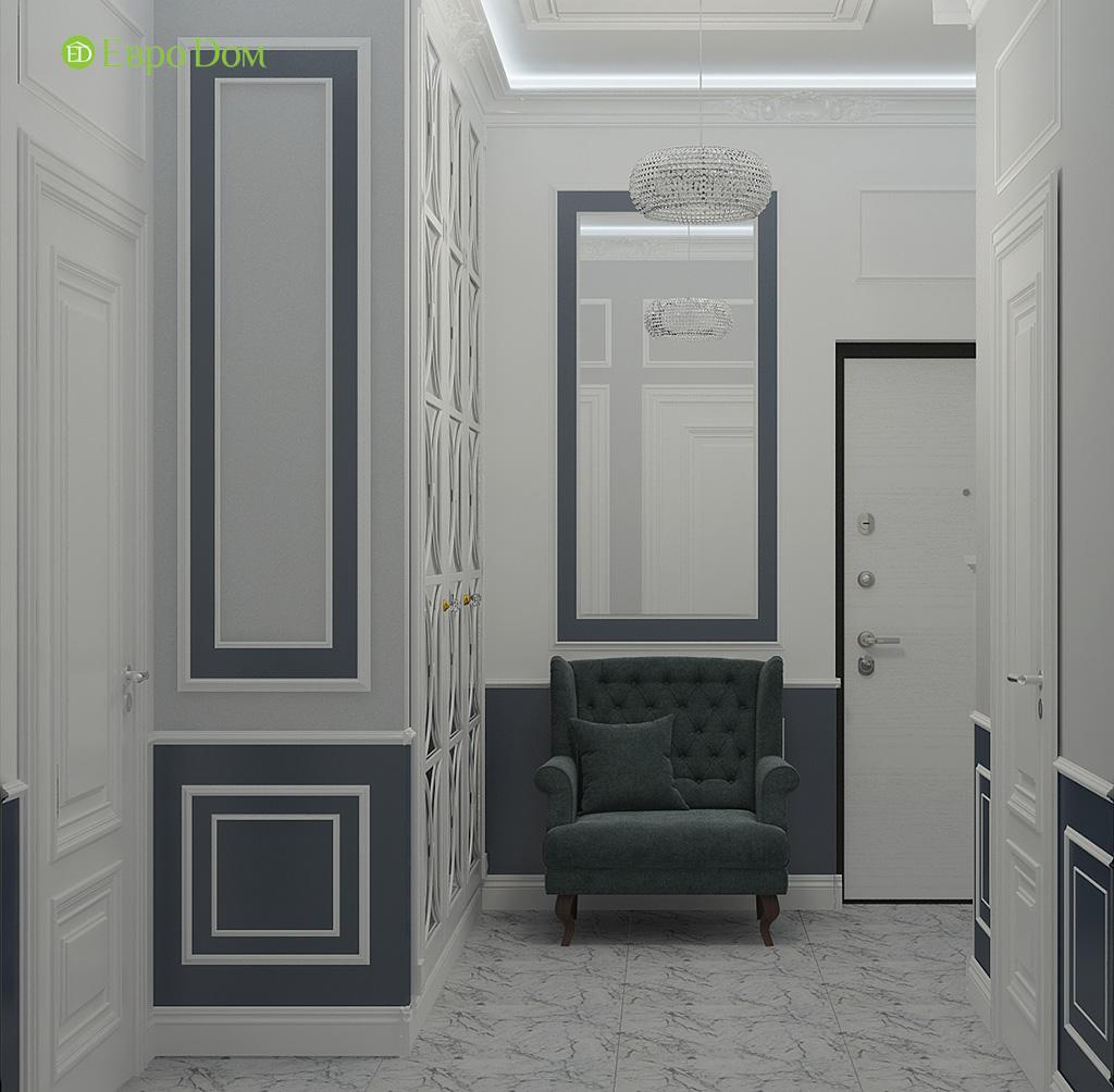 Дизайн 2-комнатной квартиры 60 кв. м в стиле неоклассика. Фото 08