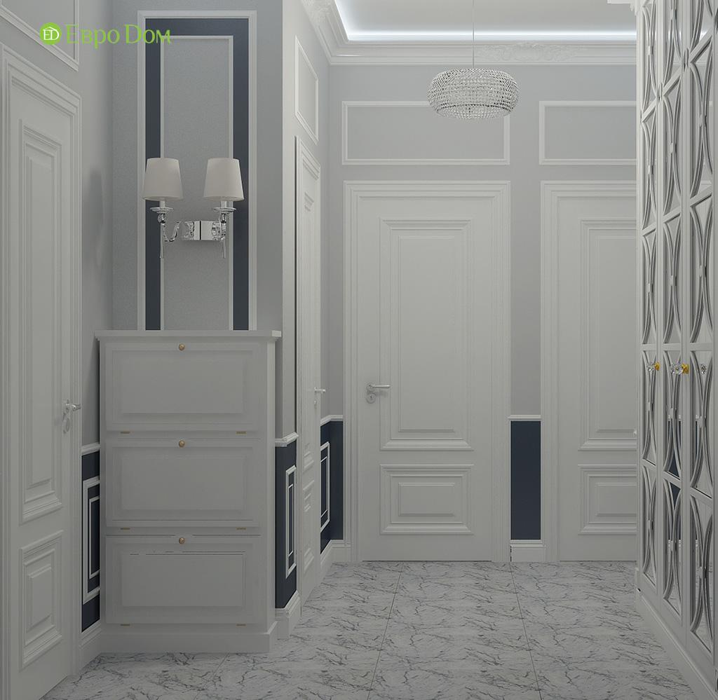 Дизайн 2-комнатной квартиры 60 кв. м в стиле неоклассика. Фото 09