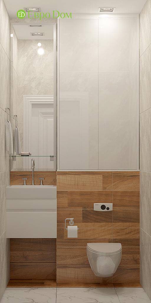 Дизайн 2-комнатной квартиры 60 кв. м в стиле неоклассика. Фото 012