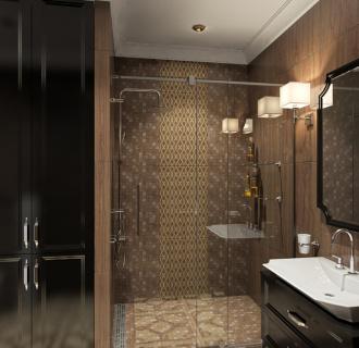 Дизайн трехкомнатной квартиры 122 кв. м в английском стиле. Фото проекта