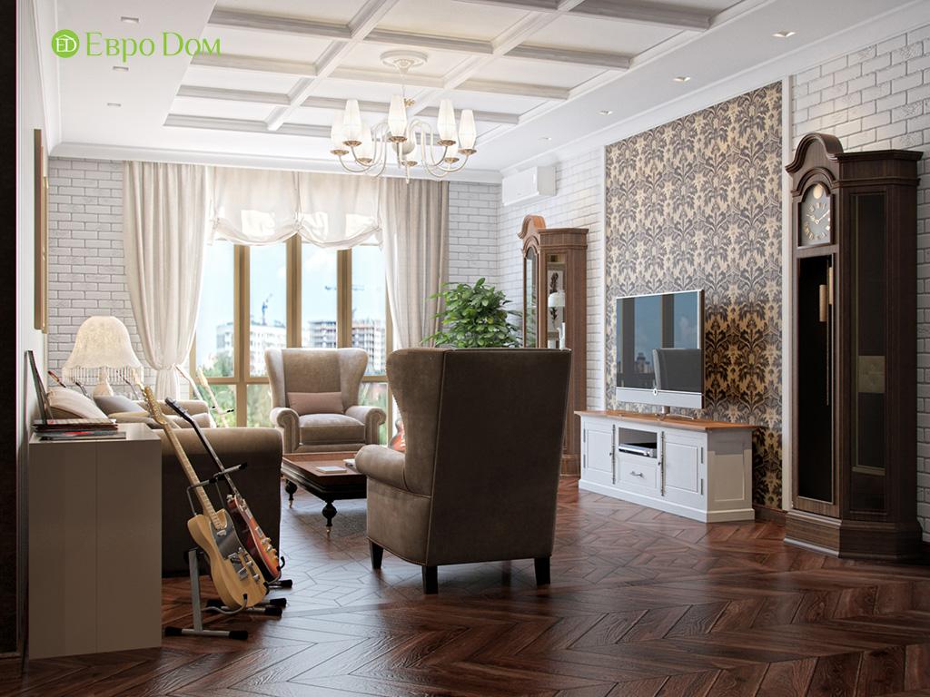Дизайн трехкомнатной квартиры в английском стиле. Фото 07