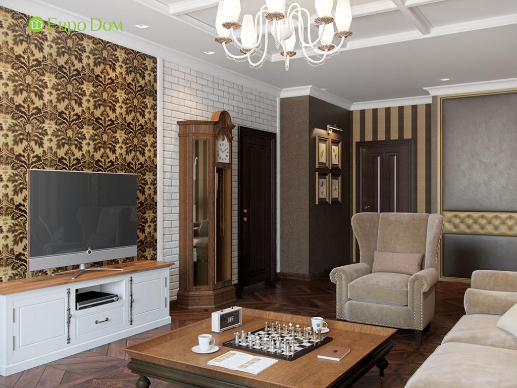 Дизайн трехкомнатной квартиры в английском стиле. Фото 08