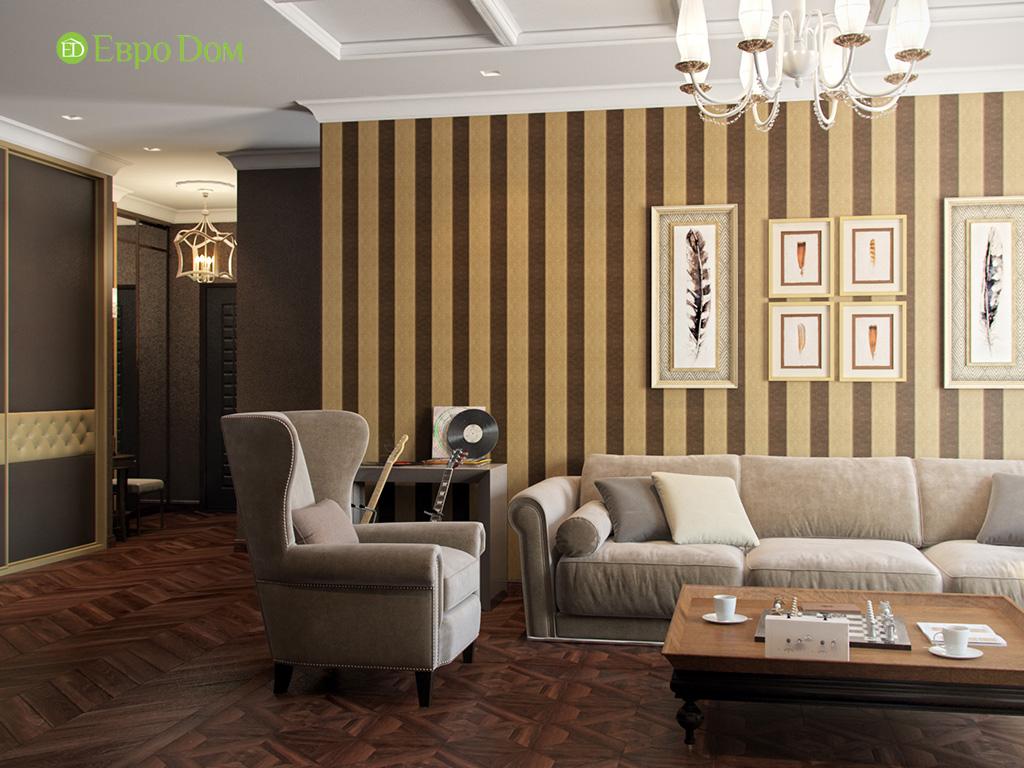 Дизайн трехкомнатной квартиры в английском стиле. Фото 09
