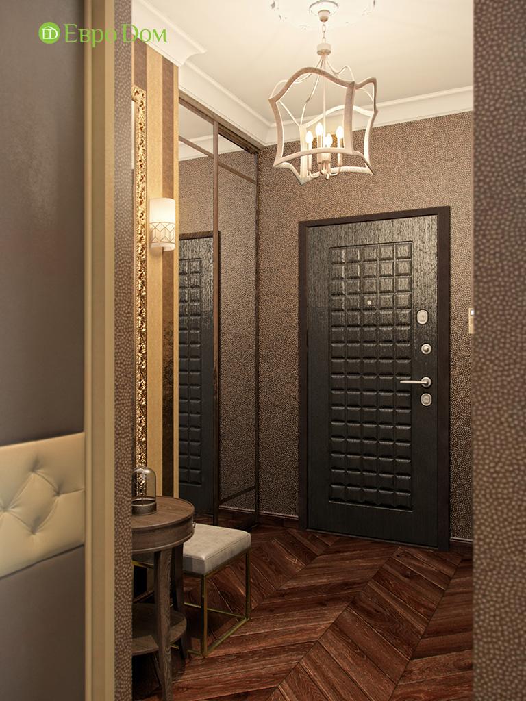 Дизайн трехкомнатной квартиры в английском стиле. Фото 011