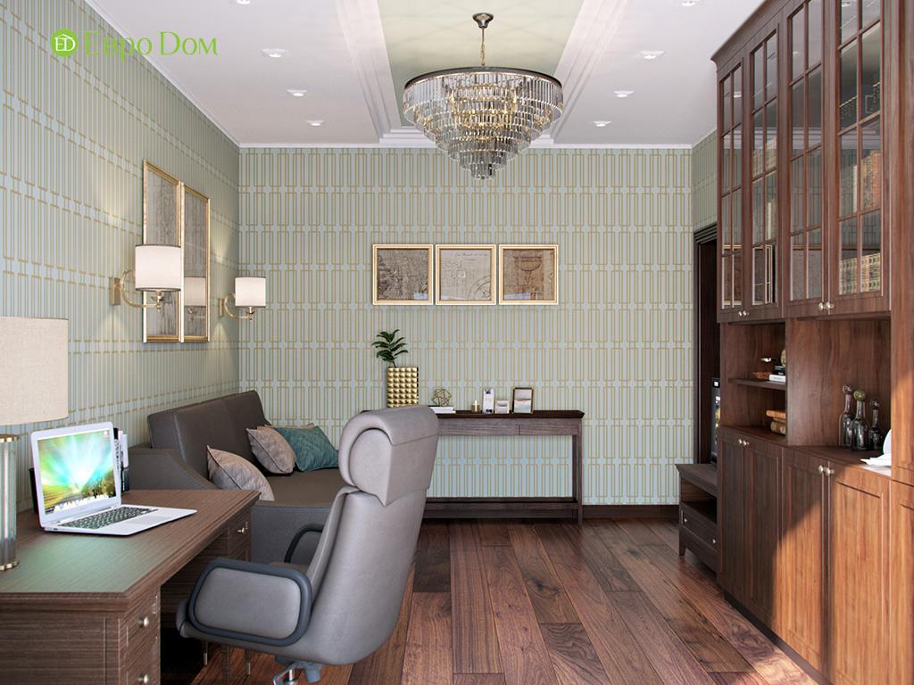 Дизайн трехкомнатной квартиры в английском стиле. Фото 012