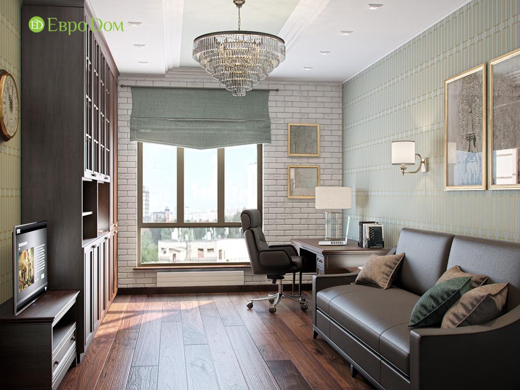 Дизайн трехкомнатной квартиры в английском стиле. Фото 013