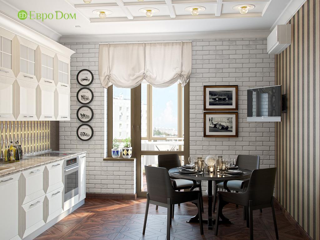 Дизайн трехкомнатной квартиры в английском стиле. Фото 014