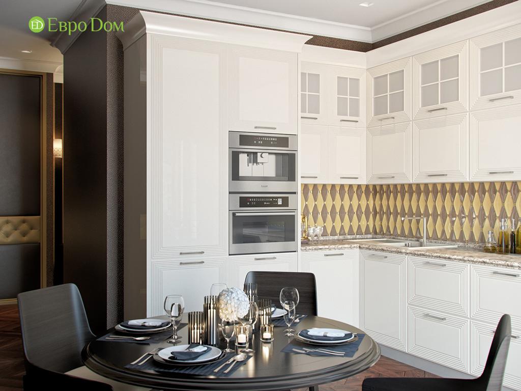 Дизайн трехкомнатной квартиры в английском стиле. Фото 015