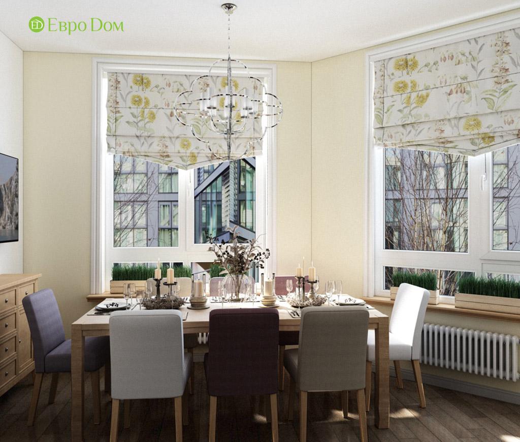 Дизайн интерьера трехкомнатной квартиры в современном стиле. Фото 02