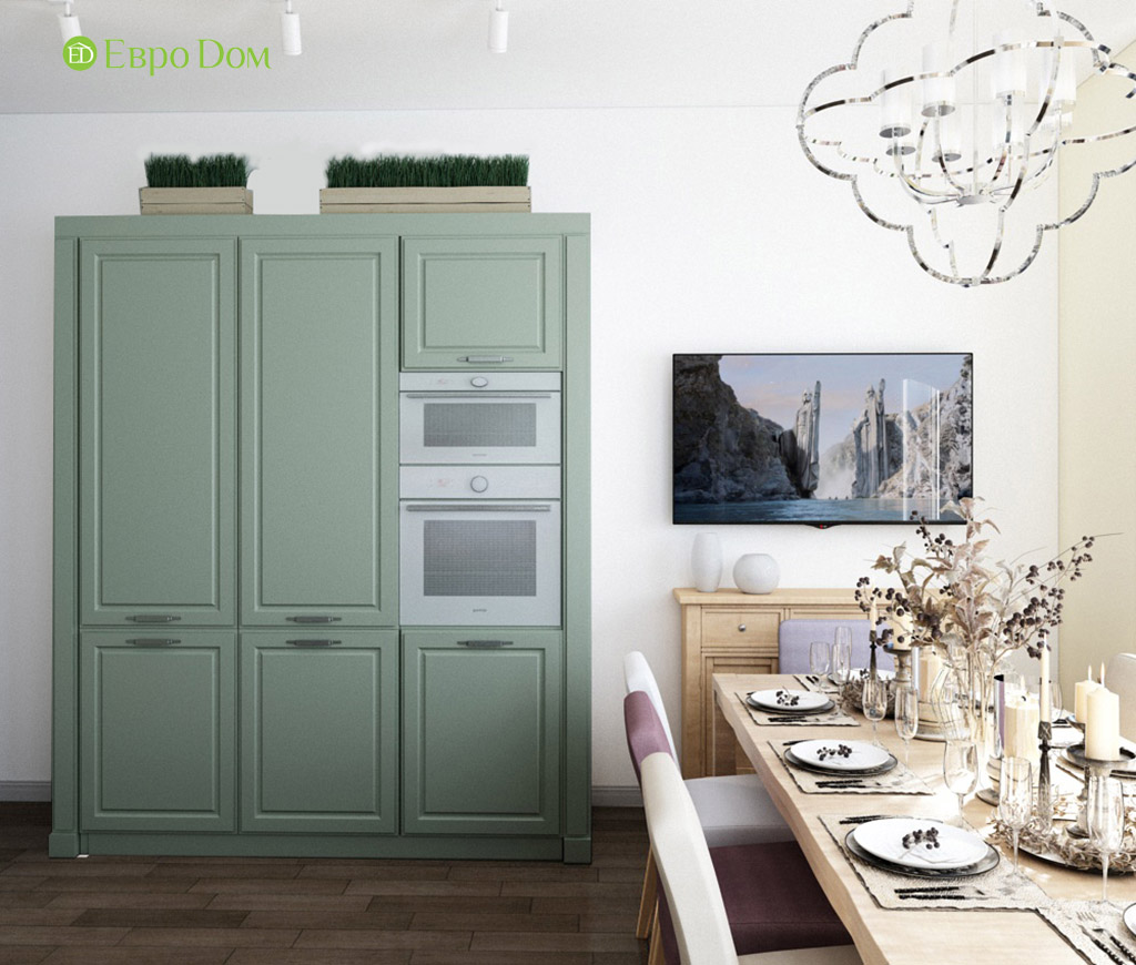 Дизайн интерьера трехкомнатной квартиры в современном стиле. Фото 04