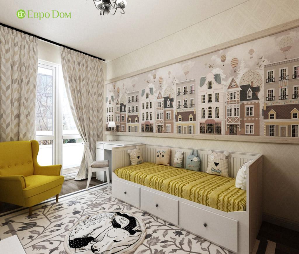 Дизайн интерьера трехкомнатной квартиры в современном стиле. Фото 05