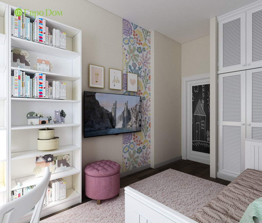 Дизайн интерьера трехкомнатной квартиры в современном стиле. Фото 09