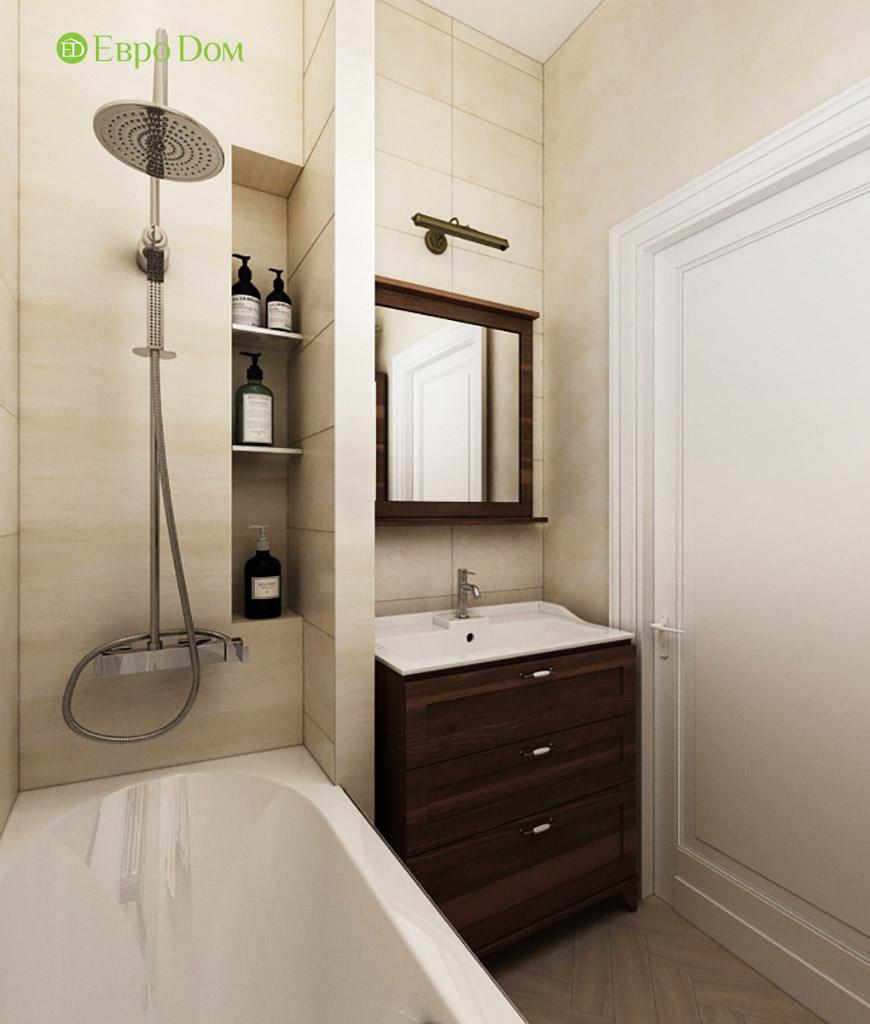 Дизайн интерьера трехкомнатной квартиры в современном стиле. Фото 012