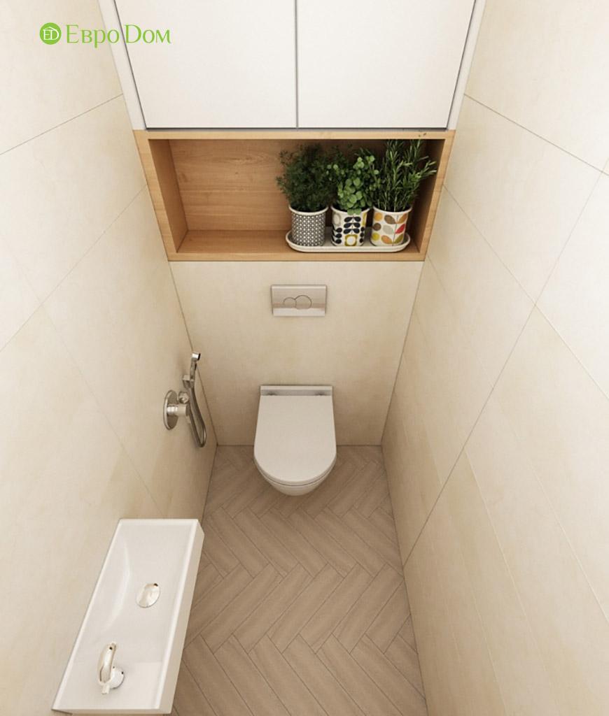 Дизайн интерьера трехкомнатной квартиры в современном стиле. Фото 013