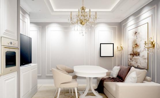 Дизайн интерьера трехкомнатной квартиры 60 кв.м. по адресу г. Москва, ул. Святозерская. Фото 2
