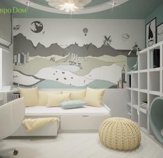 Дизайн пятикомнатной квартиры 140 кв. м в современном стиле. Фото проекта