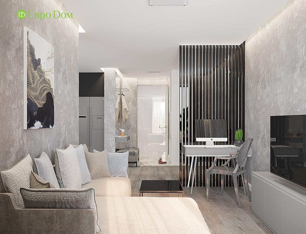 Дизайн двухкомнатной квартиры 50 кв. м в современном стиле. Фото 02