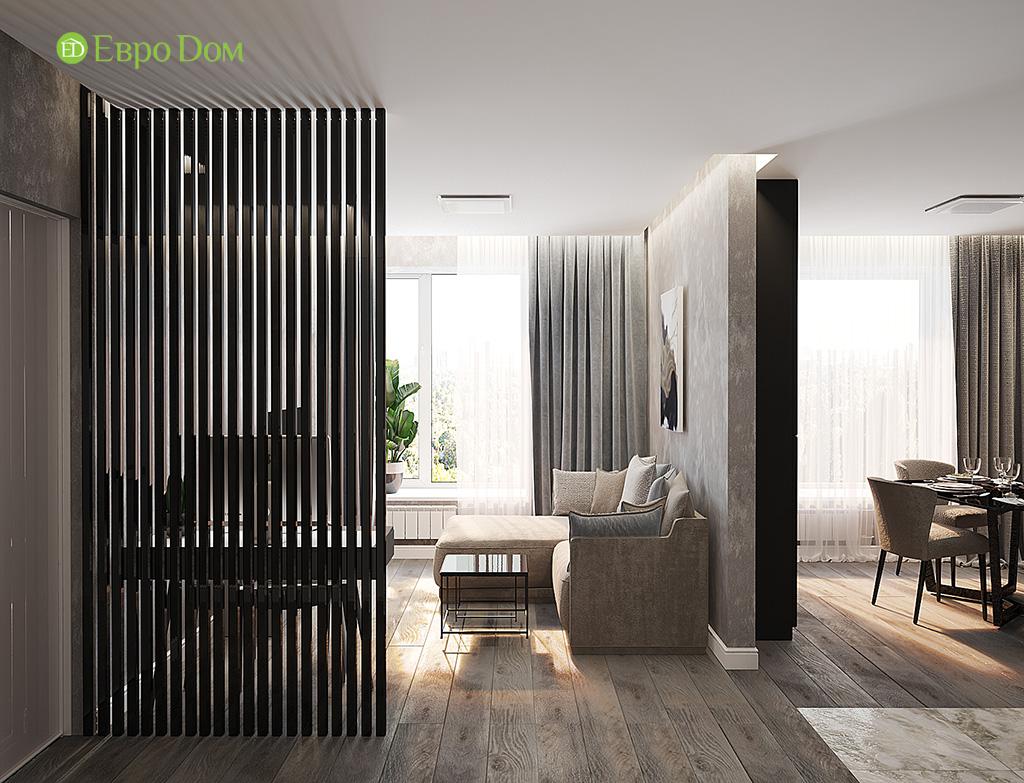 Дизайн двухкомнатной квартиры 50 кв. м в современном стиле. Фото 03