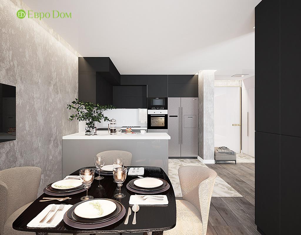 Дизайн двухкомнатной квартиры 50 кв. м в современном стиле. Фото 05