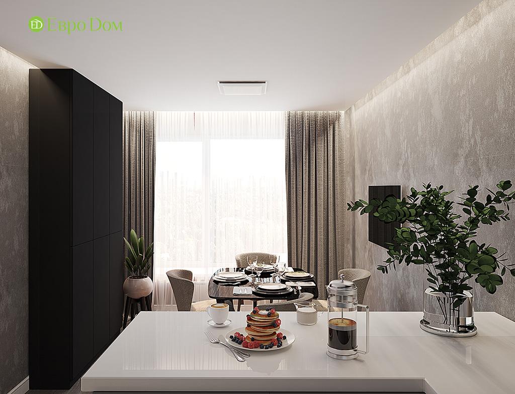 Дизайн двухкомнатной квартиры 50 кв. м в современном стиле. Фото 06