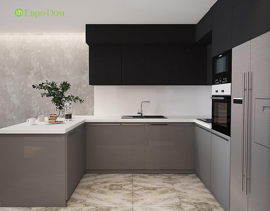 Дизайн двухкомнатной квартиры 50 кв. м в современном стиле. Фото 07