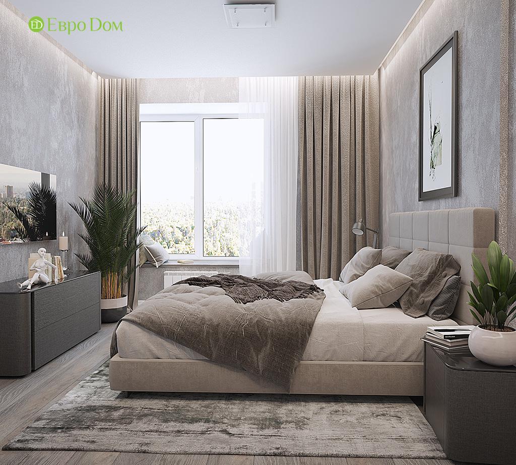 Дизайн двухкомнатной квартиры 50 кв. м в современном стиле. Фото 08