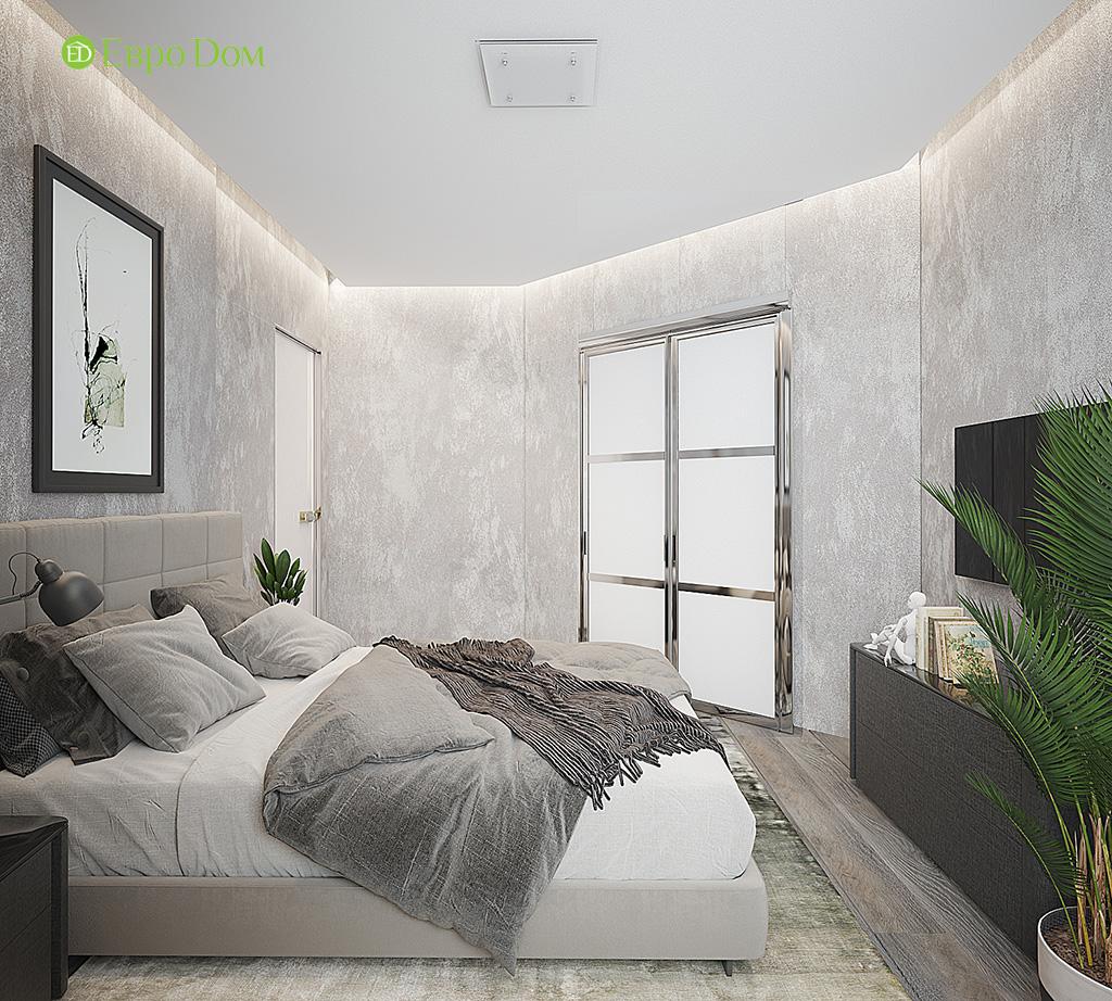 Дизайн двухкомнатной квартиры 50 кв. м в современном стиле. Фото 09