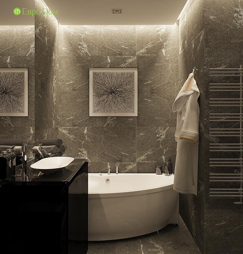 Дизайн двухкомнатной квартиры 50 кв. м в современном стиле. Фото 011