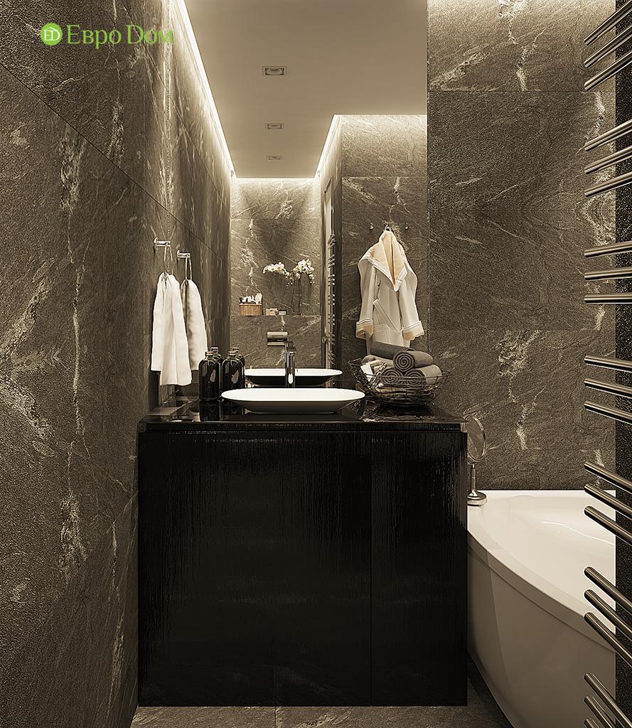 Дизайн двухкомнатной квартиры 50 кв. м в современном стиле. Фото 012