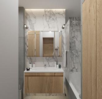 Дизайн однокомнатной квартиры 40 кв. м в современном стиле. Фото проекта