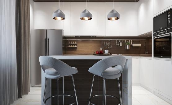 Дизайн интерьера трехкомнатной квартиры 85 кв.м. по адресу г. Мытищи, проспект Астрахова, 12а. Фото 1