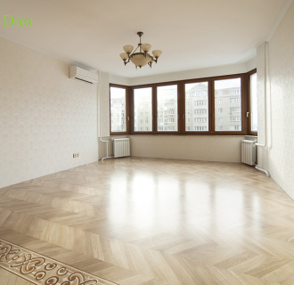 Ремонт трехкомнатной квартиры 74 кв. м в стиле неоклассика. Фото проекта