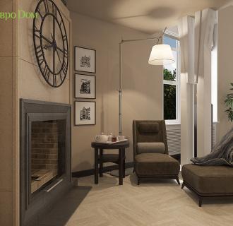 Дизайн интерьера коттеджа 490 кв. м в современном стиле. Фото проекта