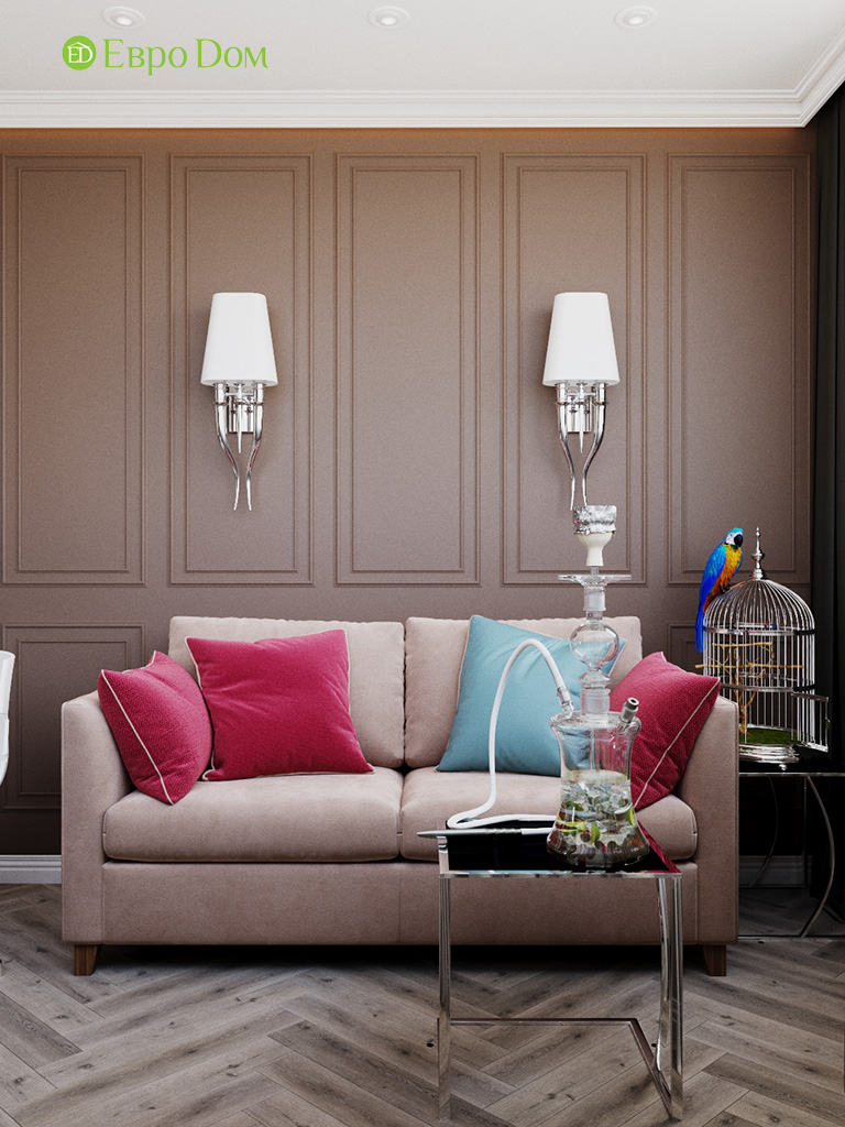 Дизайн четырехкомнатной квартиры с стиле неоклассика. Фото 07