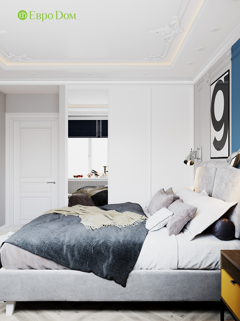 Дизайн четырехкомнатной квартиры с стиле неоклассика. Фото 027
