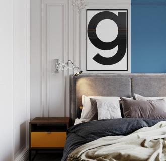 Дизайн четырехкомнатной квартиры 110 кв. м в стиле неоклассика. Фото проекта